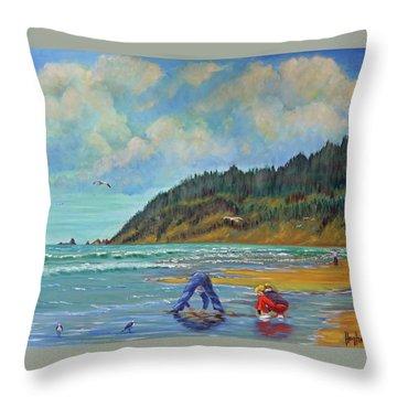 Cannon Beach Kids Throw Pillow