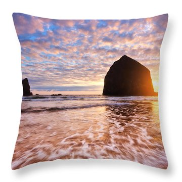 Cannon Beach Sunset Classic Throw Pillow