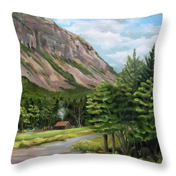 Cannon Cliff New Hampshire Throw Pillow by Nancy Griswold