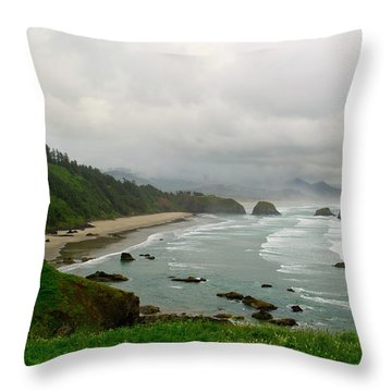 Throw Pillow featuring the photograph Cannon Coast by Suzette Kallen