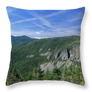 Cannon Mountain - White Mountains New Hampshire Usa Throw Pillow