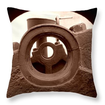Cannon Parts Throw Pillow