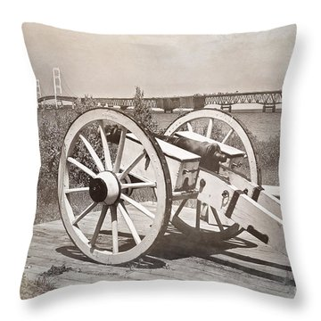 Cannon Throw Pillow by Randall  Cogle