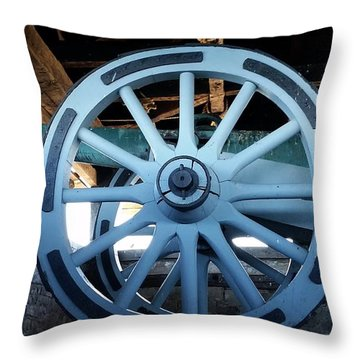 Cannon Throw Pillow by Raymond Earley