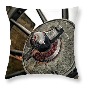 Cannon Wheel Throw Pillow