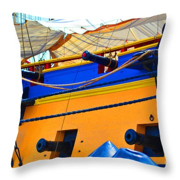 Cannons Of Color Throw Pillow