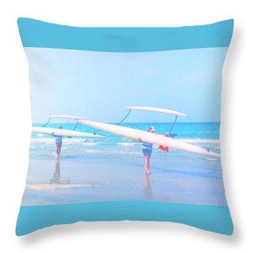 Canoe Ladies Throw Pillow