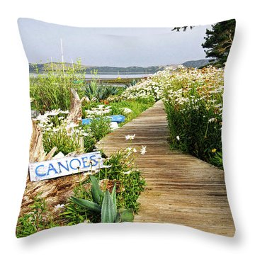 Canoes By Mike-hope Throw Pillow