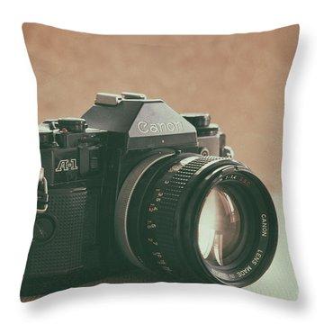 Throw Pillow featuring the photograph Canon A1 by Ana V Ramirez