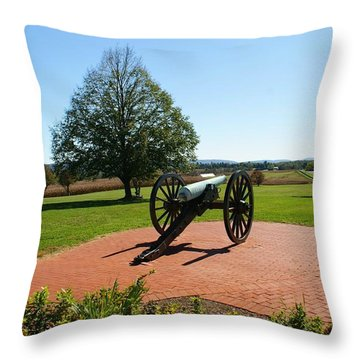 Canon At Antietam Throw Pillow