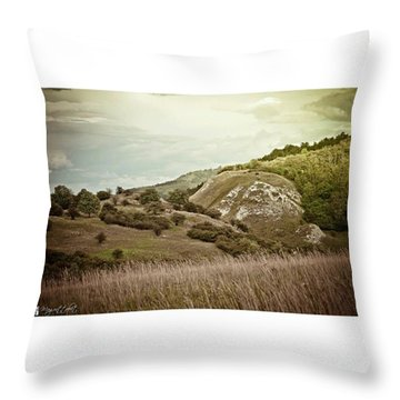 #canon #clouds #sky #kyffhaeuser Throw Pillow