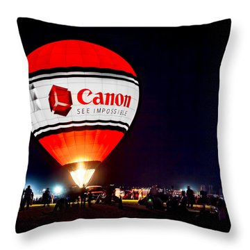 Canon - See Impossible - Hot Air Balloon Throw Pillow