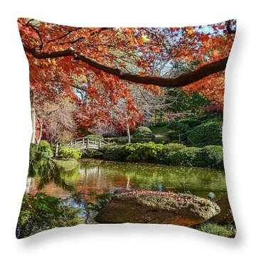 Canopy Of Fire Throw Pillow