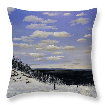Throw Pillow featuring the painting Can't Bear It by Ken Ahlering