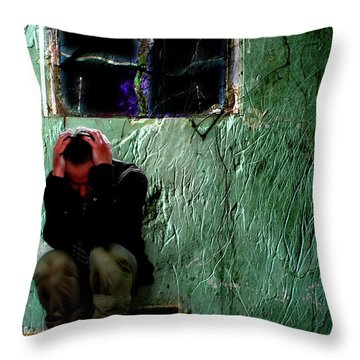 Can't Escape The Madness Throw Pillow by Gray  Artus