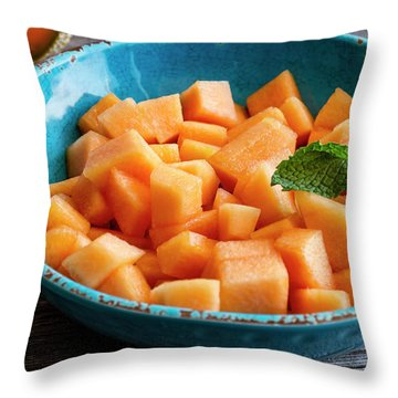 Cantaloupe For Breakfast Throw Pillow