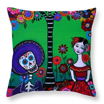Throw Pillow featuring the painting Serenata Especial Para Axl by Pristine Cartera Turkus