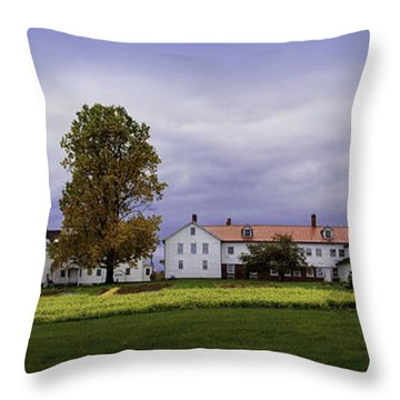Canterbury Shaker Village Nh Throw Pillow by Betty Denise