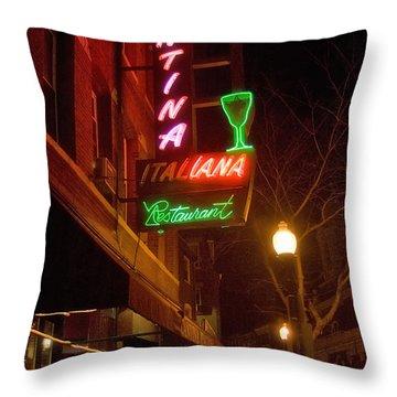 Cantina Italiana Throw Pillow by Joann Vitali