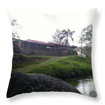 Cantine By The River Throw Pillow