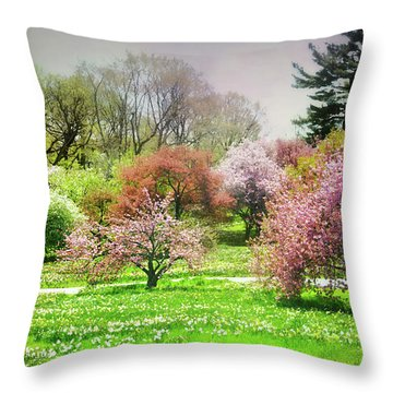Throw Pillow featuring the photograph Garden Canvas  by Diana Angstadt
