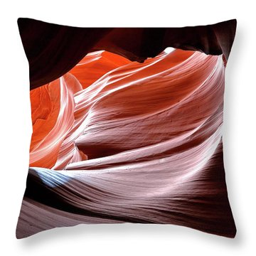 Canyon Abstract 2 Throw Pillow