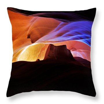 Throw Pillow featuring the photograph Canyon Antelope by Evgeny Vasenev
