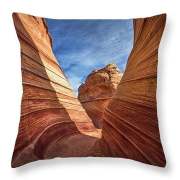 Canyon Atthe Wave Throw Pillow