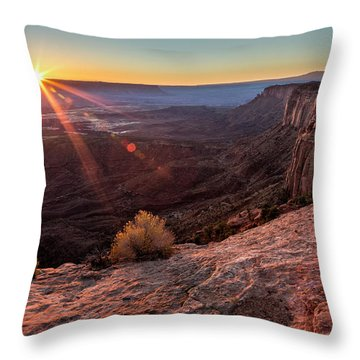Canyon Country Sunrise Throw Pillow