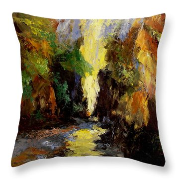 Canyon Creek Throw Pillow by Gail Kirtz