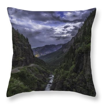 Canyon Creek Sunset Throw Pillow