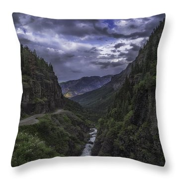 Throw Pillow featuring the photograph Canyon Creek Sunset by Bitter Buffalo Photography