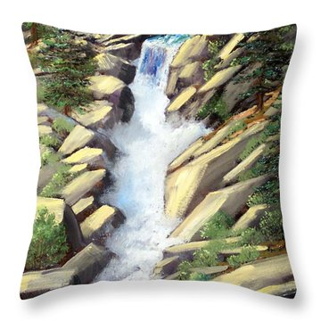 Canyon Falls Throw Pillow