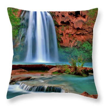 Canyon Falls Throw Pillow by Scott Mahon