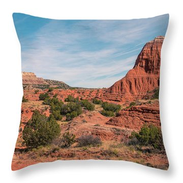 Canyon Hike Throw Pillow