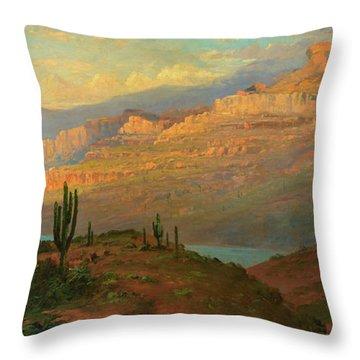 Canyon In Arizona Throw Pillow