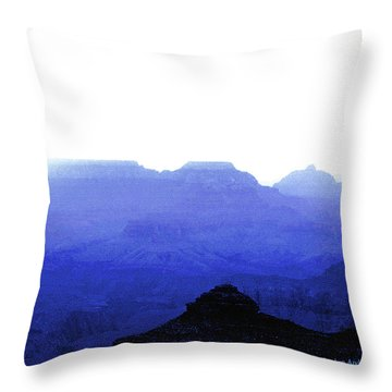 Canyon In Blue Throw Pillow