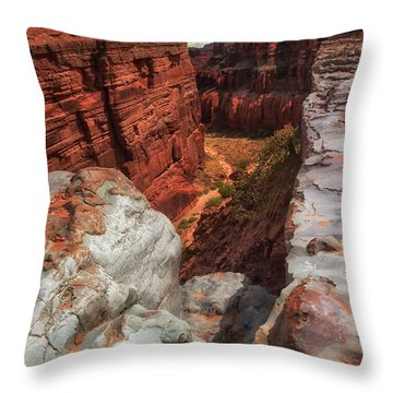 Canyon Lands Quartz Falls Overlook Throw Pillow