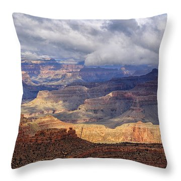 Canyon Layers Throw Pillow by Beverly Parks