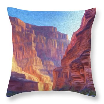 Canyon Light Throw Pillow by Walter Colvin