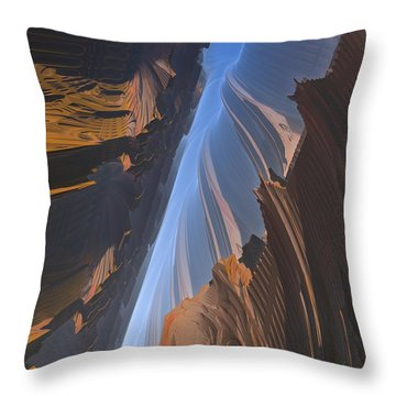Throw Pillow featuring the digital art Canyon by Lyle Hatch