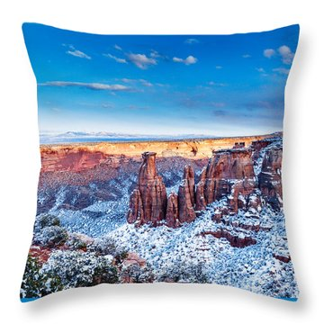Canyon Of Colors Throw Pillow