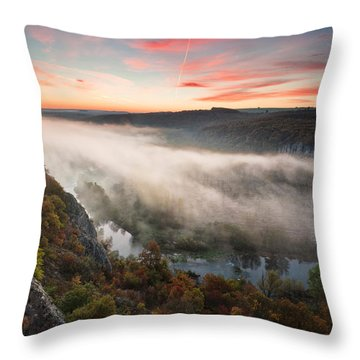 Canyon Of Mists Throw Pillow by Evgeni Dinev