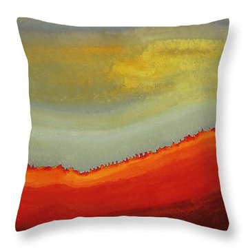 Canyon Outlandish Original Painting Throw Pillow by Sol Luckman