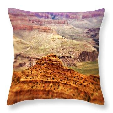 Canyon Peak Throw Pillow by Scott Pellegrin