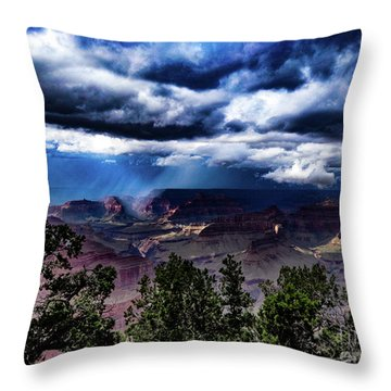 Canyon Rains Throw Pillow