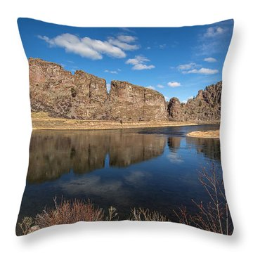 Canyon Reflections Throw Pillow