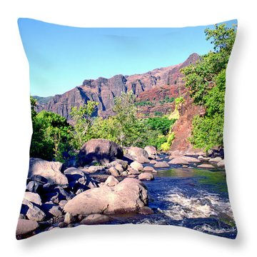 Canyon River  Throw Pillow by Kevin Smith