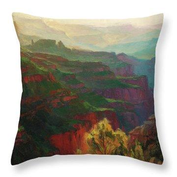 Canyon Silhouettes Throw Pillow