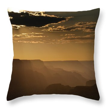 Canyon Strata Throw Pillow by Steve Gadomski